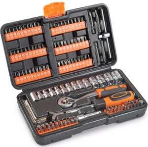 VonHaus 130pc Socket Set + Screwdriver Bits Including 72-teeth Ratchet Handle £17.99 delivered @ domu-uk EBay