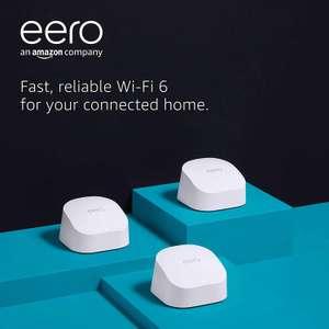 Amazon eero 6 dual-band mesh Wi-Fi 6 system with built-in Zigbee smart home hub 3-pack - £195.00 (UK Mainland) @ Amazon EU