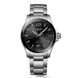 Longines Performance Conquest V.H.P. Black Dial Watch Steel Bracelet £610 @ Fraser Hart