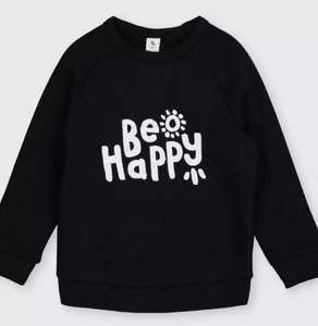 Kids Be Happy' Slogan Sweatshirt From £4. with free click and collect from Argos