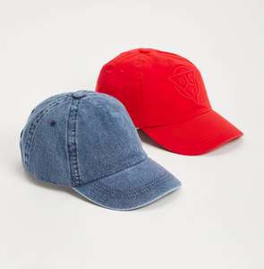 Red NYC Logo & Denim Cap 2 Pack £3 for 3-5 or 6-9 years and £3.50 for 10-13 years boys with Click and Collect @ Argos