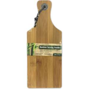 28 x 11cm Bamboo Wooden Serving Tray Cheese Paddle Chopping Board £2.99 delivered @ bluelagoonproducts / ebay