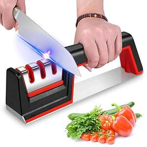 iToncs Knife Sharpener 3-Stage Manual Knife Sharpening Tool, £1.99 (+£4.49 non prime) Sold by BESTING-EU and Fulfilled by Amazon