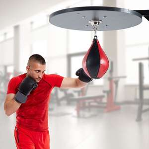 HOMCOM Boxing Punching Speed Bag, Workout Platform-Red/Black £26.87 with free Mainland UK delivery From Aosom