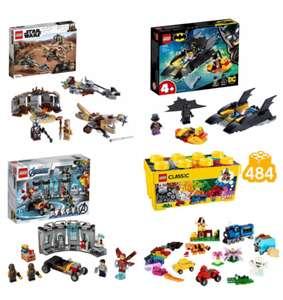 LEGO DC Batman 76158 £6.75 / Marvel 76167 IronMan Armoury & Classic 10696 Med Box £18.75 Star Wars 75299 £21@ Sainsbury's