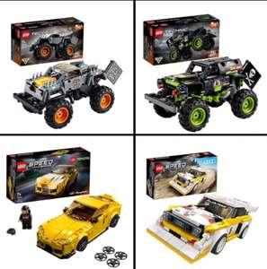 LEGO Speed Champions 76901 Toyota Gr Supra & 76897 Audi Quattro, Technic 42118 Digger & 42119 Jam Max D Truck 2in1 £13.50 each @ Sainsbury's