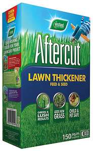 Aftercut Lawn Thickener Feed & Seed - 150m² - 5.25kg for £7 (free click & collect) @ Wickes