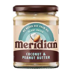 Meridian Coconut & Peanut Butter 280g £1.39 delivered with code (more in post) @ Holland & Barrett