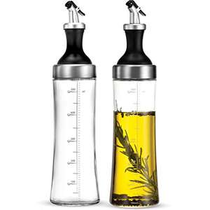 Glass Oil Bottle Drizzler 500ml (2-Pack) £5.09 with voucher + £4.49 (non Prime) Sold by YH-Goods UK and Fulfilled by Amazon