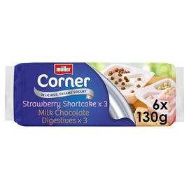 Müller Corner Chocolate Digestive and Strawberry Shortcake Yogurts 6 x 130g £2.00 @ Iceland