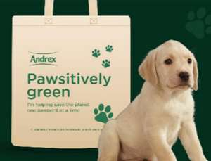 Free Andrex Eco-Canvas Bag at Andrex Shop