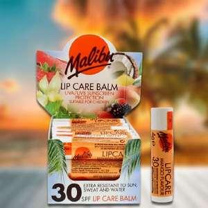 24 x Malibu Lip Balm Care Mango Flavour SPF30 4g Sun Sticks £10 delivered @ Yankee Bundles