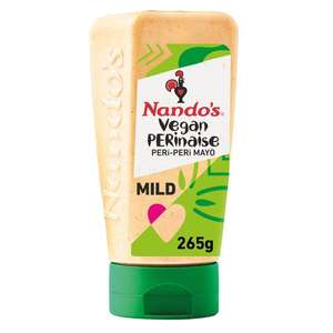 Nando's Vegan Perinaise Peri Peri, Garlic, Perinaise, Hot Perinaise (265g) or Sweet Chilli Jam (285g) - £1.50 (Clubcard Price) @ Tesco
