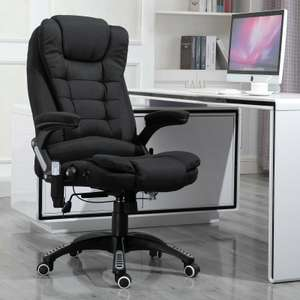 Executive Reclining Desk Chair 130° with 6 Heating Massage Points - Grey / Black - £84.79 delivered (UK mainland) with code @ eBay / homcom