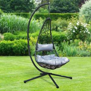 New York Hanging chair with cushions £125 at B&M Beckton