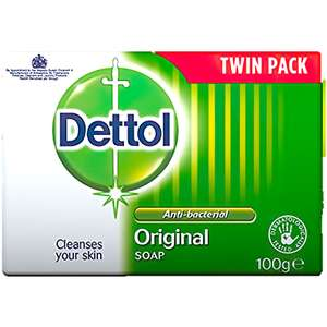 Dettol Bar Soap Original, Pack of 2 x 100 g £1 Prime OR 80p / 70p with Subscribe & Save (+£4.49 non prime) @ Amazon