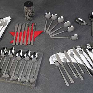 Russell Hobbs Madrid 44 Piece Flatware Stainless Steel Cutlery Set w/ 15 Year Guarantee - £15.88(+£4.49 Non Prime) @ Amazon