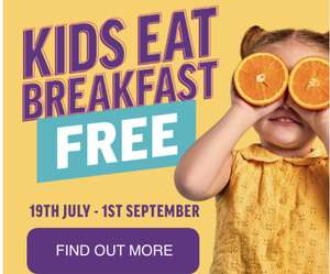 Free kids breakfast with every adult breakfast purchased during the summer holidays @ Hungry Horse