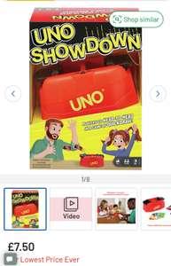 UNO Showdown Card Game £6.00 (Free Collection) @ Argos