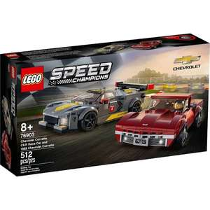 Lego Speed Champions 76903 Corvette double pack £26.25 In store Sainsbury's