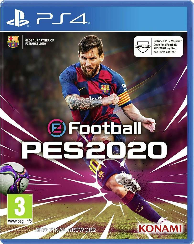 PES 2020 Sony Playstation PS4 Game, Free delivery £4.99 @ Argos on eBay (UK Mainland) - hotukdeals
