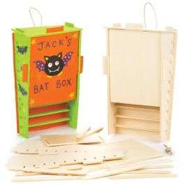 Wooden Bat Box Kits Pack of 2 - £5.95 (+£3.95 Delivery) @ Baker Ross