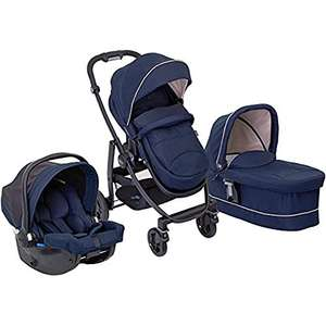 Graco Evo Trio Pushchair, Carrycot and Car Seat Travel System with Apron and Raincover, Eclipse £167.87 at Amazon