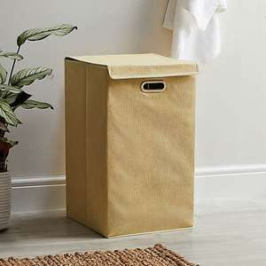 Dunelm Collapsible Laundry Basket (32.5 x 32.5 x 56 cm) in six colours for £6 click & collect @ Dunelm