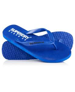 Superdry Mens Beach Co. Flip Flops Royal - Small (UK 6-7) & Medium (UK 8-9) available - £6.50 @ Superdry / Ebay