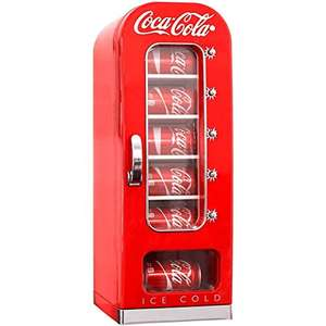 Koolatron Coca-Cola Retro Vending Machine Style 10 Can Mini Fridge/Cooler, 12V DC / 240V AC [Energy Class A] £119.69 @ Amazon