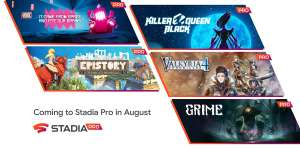 August Games : Killer Queen Black/ Valkyria Chronicles 4/GRIME/ It Came From Space / Epistory - Typing Chronicles @ Google Stadia