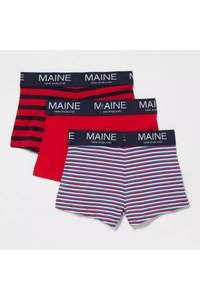 Blue Zoo Boys 3 Pack Plain And Printed Boxers for £6 next day delivered with code @ debenhams