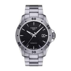 TISSOT V8 BLACK DIAL STEEL Bracelet Men's Watch (Auto) £285 at Fraser Hart