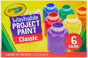 CRAYOLA 6 Washable Kids Paint (Usually dispatched within 1 to 4 weeks) £2.75 + £4.49 NP @ Amazon