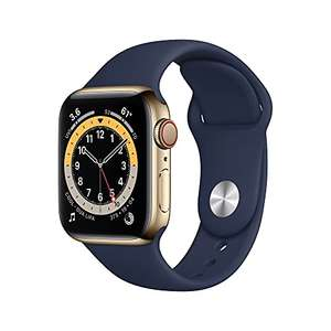 Apple Watch Series 6 40mm, Gold Stainless Steel & Blue Sport Band £509.46 @ Amazon