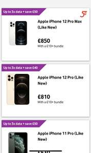 Apple iPhone 12 Pro Max (Used, Like New) - £900 + £10 Bundle + free delivery @ Vodafone