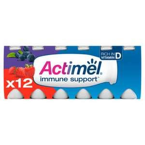Actimel 12X 100ml Strawberry & Blueberry / MultiFruit / Original / Strawberry Yogurt Drinks £2.50 @ Asda