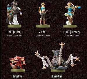 All breath of the wild amiibo in stock £12.99 + £1.99 delivery at My Nintendo Store