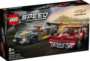 LEGO Speed Champions Cherolet Corvette C8.R Race Car & 1968 Chevrolet Corvette 76903 - £26.77 delivered using code @ toybarnhaus / eBay