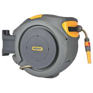 Hozelock 30m hosepipe on auto reel - £79.99 Click and collect or free delivery - Screwfix