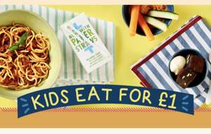 Kids eat for £1 with the purchase of an adult meal from £8.45 @ Bella Italia