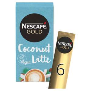 Nescafe Gold Non-Dairy Coconut Latte Instant Coffee 6 Pack £1.50 @ Asda
