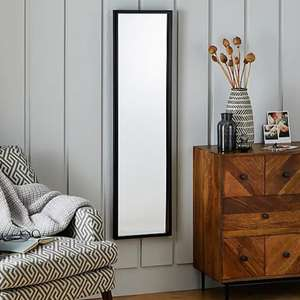 Essentials Full Length Mirror 122x32cm Black £5 (free click and collect) @ Dunelm