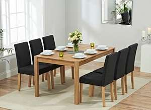 Ex-Display Chiltern 150cm Oak and Grey Dining Table £129 (£35 delivery) @ Oak Furniture Superstore