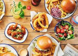 Pay What You Like for Food at Honest Burger (1 x Burger / 1 x Side / No Drinks) - Members Deal