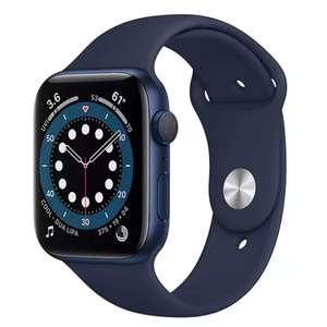 Apple Watch Series 6 GPS, 44mm Blue Aluminium Case with Deep Navy Sport Band - Regular £389 John Lewis & Partners