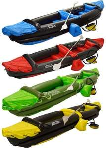 Inflatable Kayak Blow Up Two Person Canoe With Paddle Water Sports £79.99 @ Andes Camping