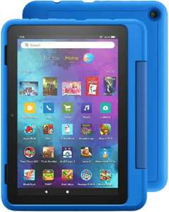 Amazon Fire HD 8 32GB Kids Pro Tablet with Case and 32GB SD Card Black or Sky Blue - £115.93 using code @ QVC