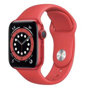 Apple Watch Series 6 GPS, 40mm PRODUCT(RED) Aluminium Case with PRODUCT(RED) Sport Band - Regular - £315.83 @ Amazon