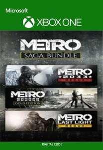 Metro Saga Bundle inc. Metro Exodus Gold Edition, Metro 2033 & Metro Last Light Redux [Xbox] Argentina via VPN £10.40 @ Eneba / Magic Codes